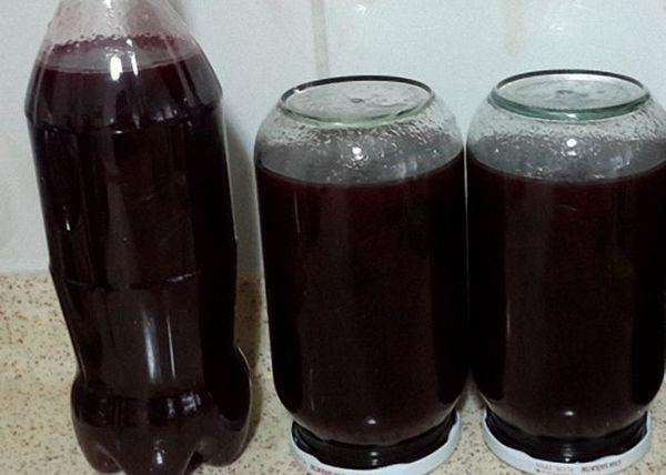 Молоде вино зі слив процідити перелити в пляшки