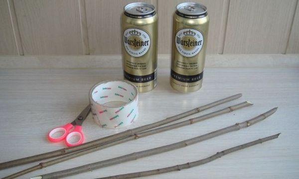 Інгредієнти для букета з пива і риби своїми руками