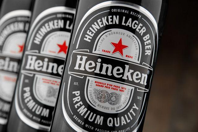 Фотографија со етикета пиво Хајнекен