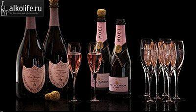 Рожеве шампанське Moet