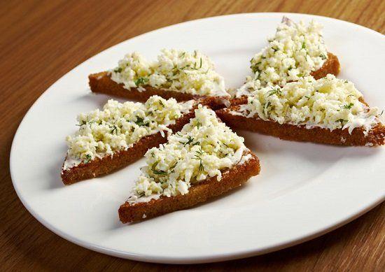 бутерброди з сирною закускою