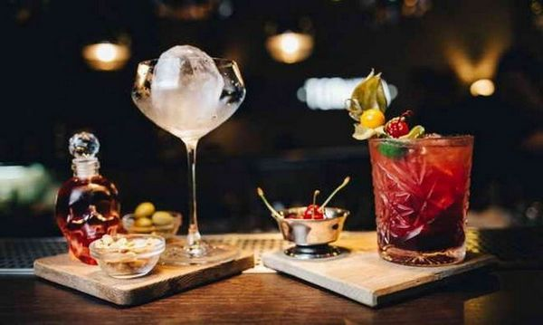 martini koktejly