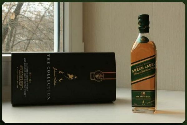 Огляд віскі Johnnie Walker Green Label (Джонні Вокер Грін Лейбл)