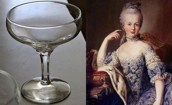 Čaše šampanjca u obliku tanjura imaju bogatu povijest.